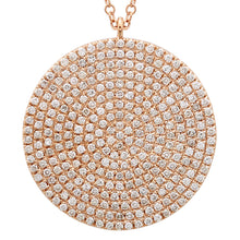 Load image into Gallery viewer, 14k Yellow Gold Diamond Disc Pendant