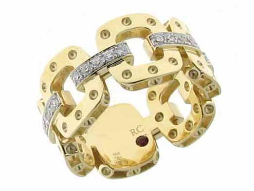 Roberto Coin Link Band with Diamond Connectors