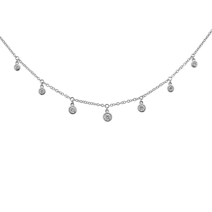 14k Gold Diamond Dangle Necklace