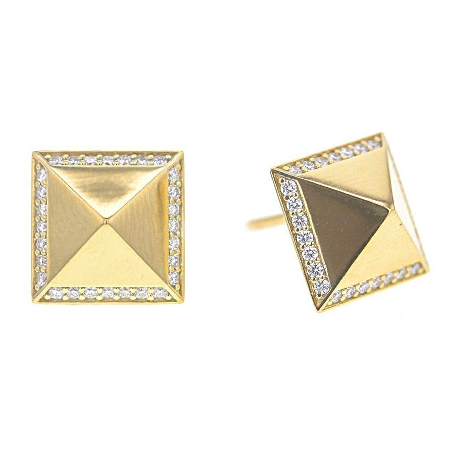 Roberto Coin Obelisco Diamond Stud Earrings