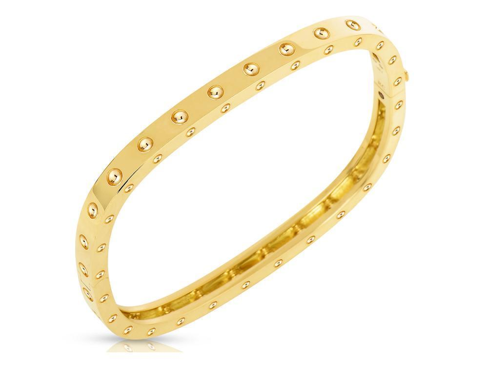 Roberto Coin 18k Yellow Gold 1 Row Bangle (M)