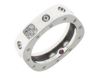 Roberto Coin 1 Row Ring with Diamond Accent