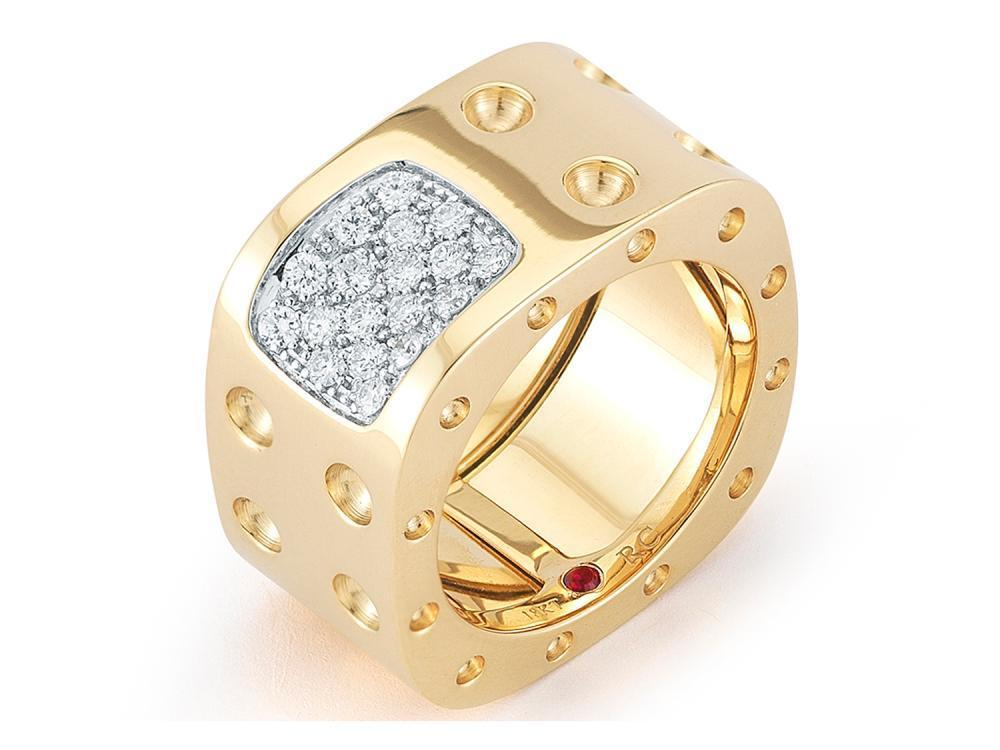 Roberto Coin 2 Row Ring with Diamond Accent