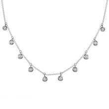 Load image into Gallery viewer, 14k White Gold Diamond Dangle Necklace