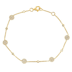 14k Rose Gold Diamond Bracelet