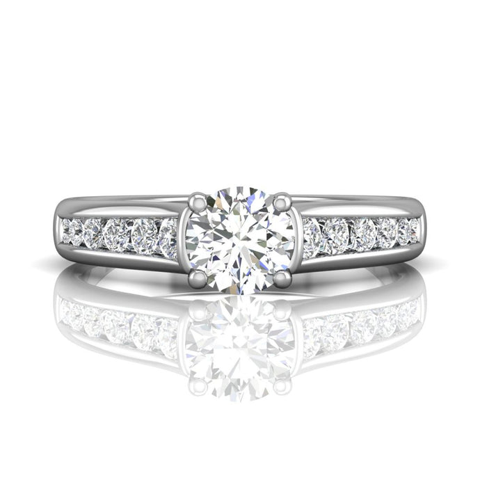 Martin Flyer Channel Set Diamond Engagement Ring