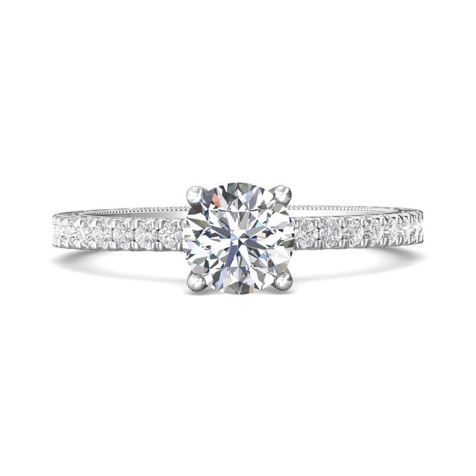 Martin Flyer 14k White Gold Diamond Engagement Ring