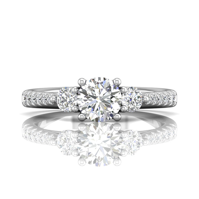 Martin Flyer Three Stone Diamond Engagement Ring