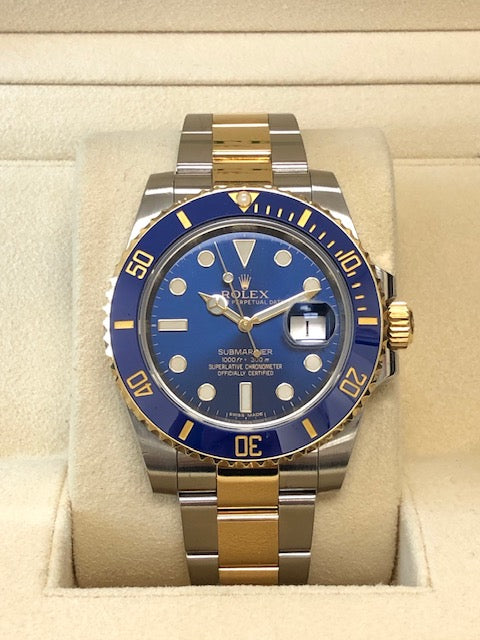 Pre-Owned 18K/SS Rolex Submariner - Blue Dial - Model 116613