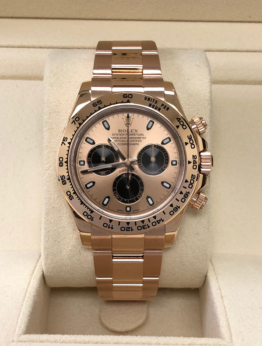 Pre-Owned 18K Everose Gold Rolex Cosmograph Daytona Model 116508