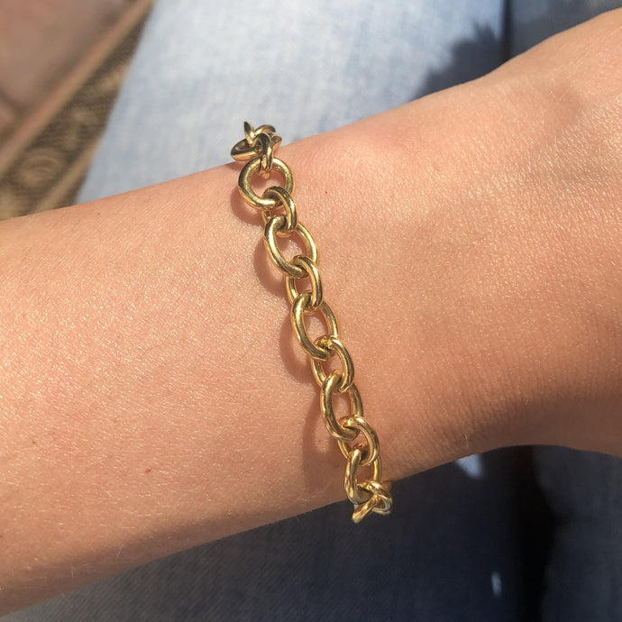 Estate 18k Yellow Gold Link Bracelet