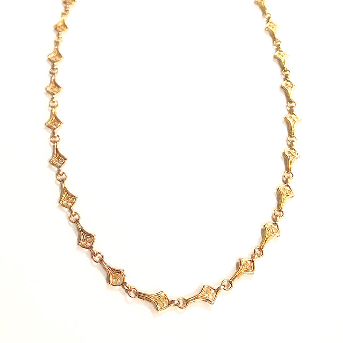 Estate 18k Yellow Gold Filigree Necklace