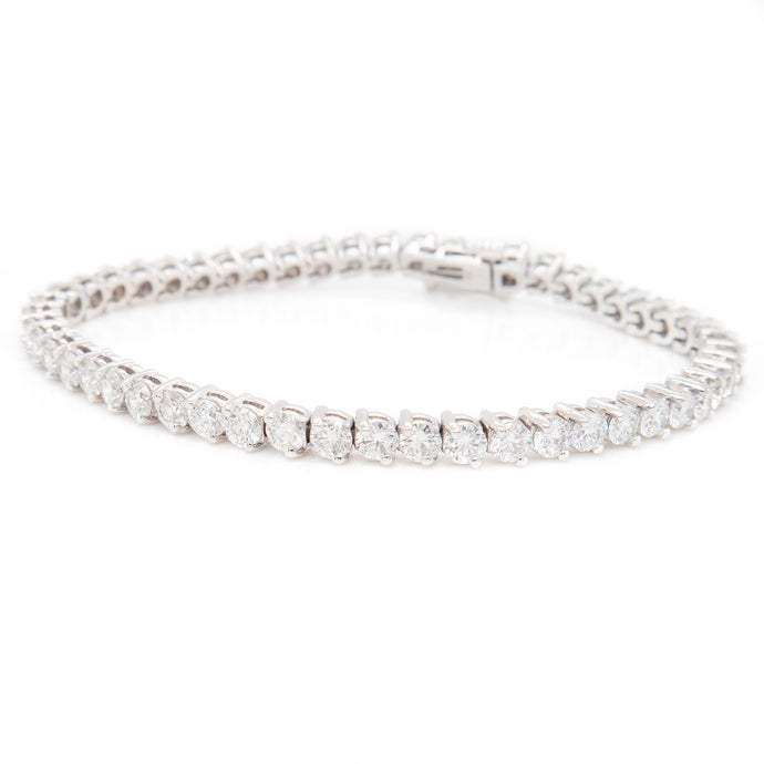 7.85ct 18k White Gold Diamond Tennis Bracelet