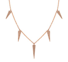 Load image into Gallery viewer, 14k White Gold Diamond Spike Necklace