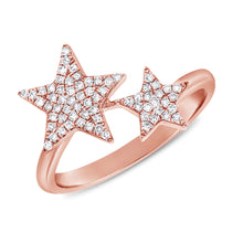Load image into Gallery viewer, 14k Yellow Gold Diamond Star Ring