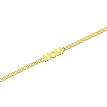 Load image into Gallery viewer, 14k Yellow Gold MOM Link Bracelet