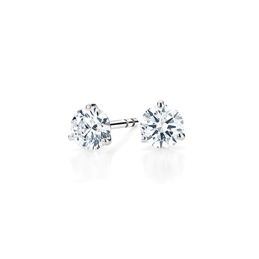 1.50CTW Round Brilliant Diamond Stud Earrings - H-I/SI