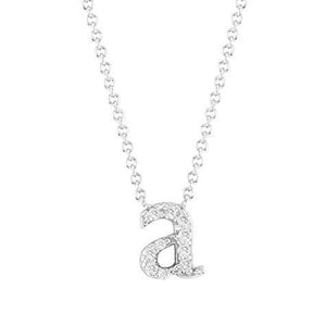 14k Rose Gold Mini Diamond Initial Pendant