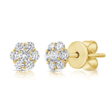 Load image into Gallery viewer, 14k Rose Gold Diamond Stud Earrings