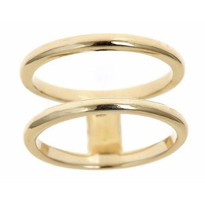 14k Yellow Gold Double Band Ring
