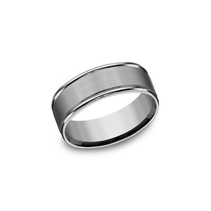Benchmark Tungsten 8mm Men's Wedding Band