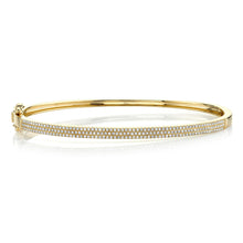 Load image into Gallery viewer, 14k Rose Gold Diamond Bangle Bracelet