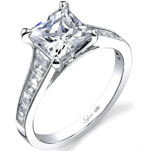 Sylvie Channel Set Diamond Engagement Ring
