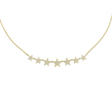 Load image into Gallery viewer, 14k Yellow Gold Star Necklace