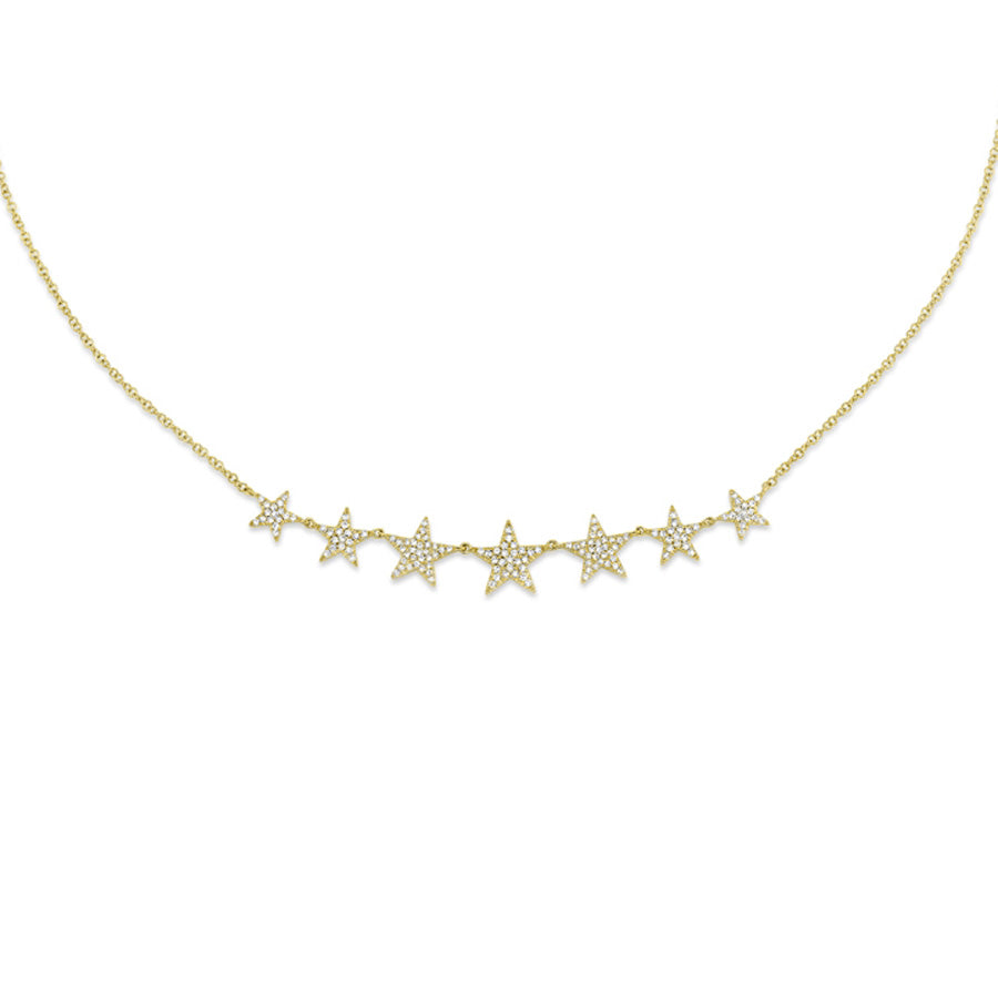 14k Yellow Gold Star Necklace