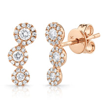 Load image into Gallery viewer, 14k Yellow Gold diamond Stud Earrings