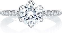 Load image into Gallery viewer, A.Jaffe 6-Prong Pave Diamond Engagement Ring