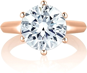 A.Jaffe 6 Prong Solitaire Engagement Ring Setting