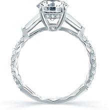 Load image into Gallery viewer, A.Jaffe Baguette Diamond Engagement Ring