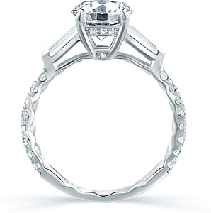 A.Jaffe Baguette Diamond Engagement Ring
