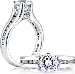 A.Jaffe Channel Set Diamond Engagement Ring