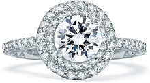Load image into Gallery viewer, A.Jaffe Double Halo Diamond Engagement Ring