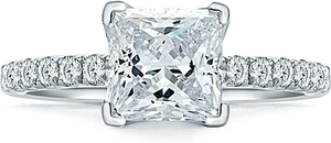 A.Jaffe French Pave Diamond Engagement Rings