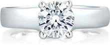 Load image into Gallery viewer, A.Jaffe French Solitaire Diamond Engagement Ring