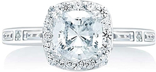Load image into Gallery viewer, A.Jaffe Halo Diamond Engagement Ring