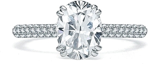A.Jaffe Micro-Pave Diamond Engagement Ring