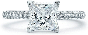 A.Jaffe Micro Pave Diamond Engagement Ring
