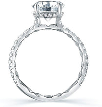 A.Jaffe Pave Diamond Engagement Ring