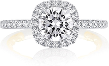 Load image into Gallery viewer, A.Jaffe Pave Halo Diamond Engagement Ring