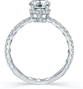 A.Jaffe Pave Set Diamond Engagement Ring