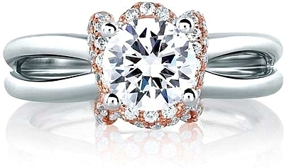 A.Jaffe Rose Gold Diamond Engagement Ring