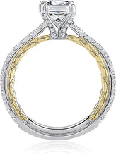 Load image into Gallery viewer, A.Jaffe Two-Tone Pave Diamond Engagement Ring