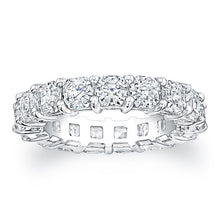Load image into Gallery viewer, Asscher Cut Diamond Eternity Ring - 6.40CTW F/VS2