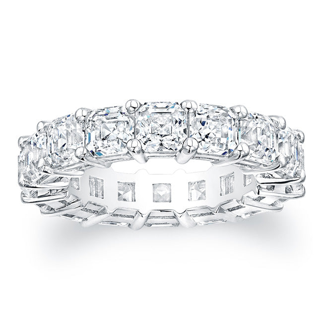 Asscher Cut Diamond Eternity Ring - 7.50CTW F/VS2