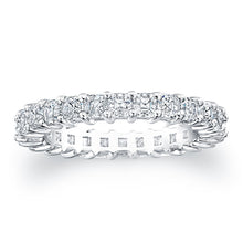 Asscher Cut Diamond Eternity Ring - 2.50CTW F/VS2