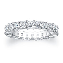 Load image into Gallery viewer, Asscher Cut Diamond Eternity Ring - 3.15CTW F/VS2